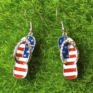 USA Flag Sandal Earrings